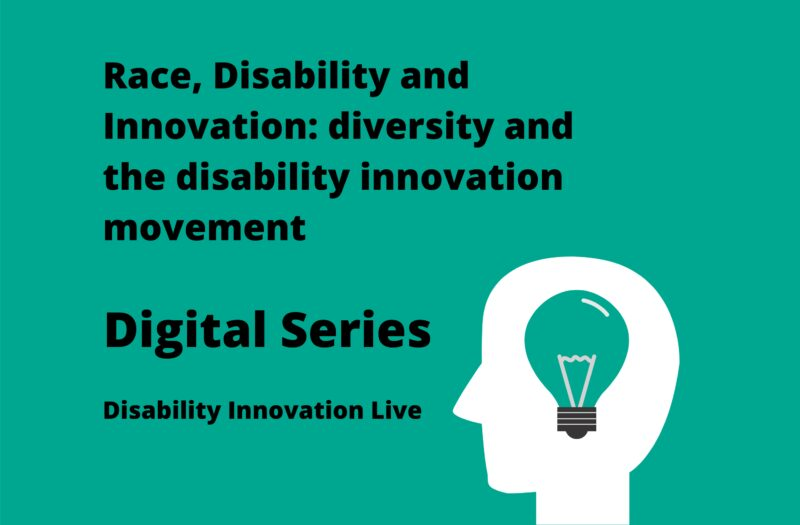 Race, Disability and innovation promotional banner