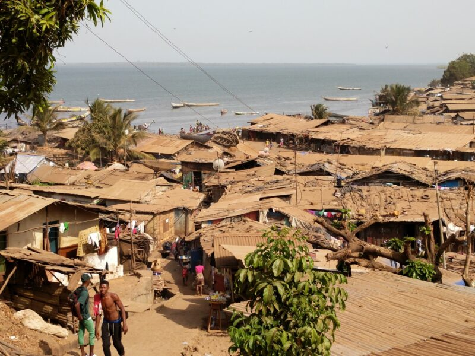 View of Portee-Rokupa, an informal settlement in the East of Freetown, Sierra Leone
