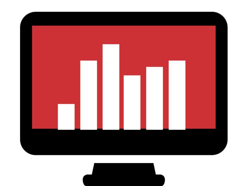 Image of Bar chart on a computer