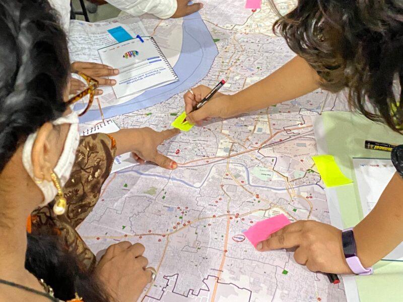Co-design workshop exploring inclusive and accessible urban environment in Varanasi, India