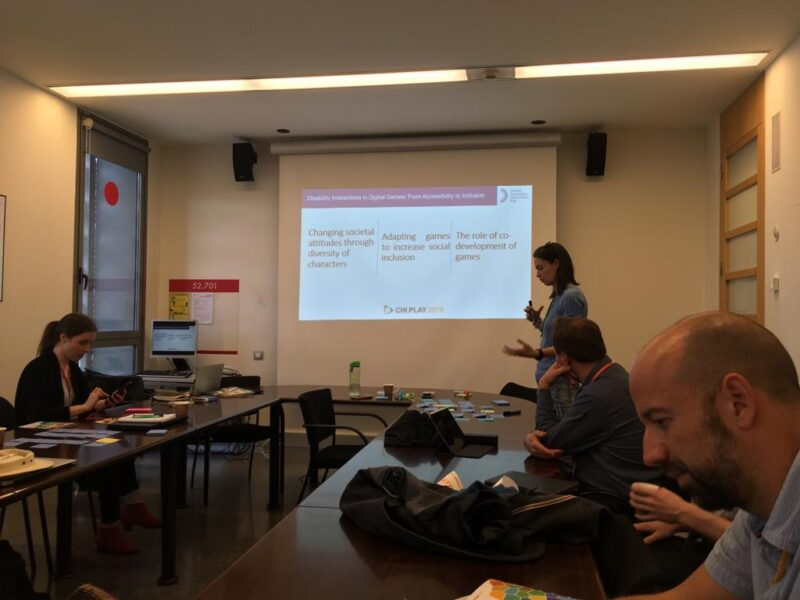 Dr Giulia Barbareschi presenting at the CHI Play workshop
