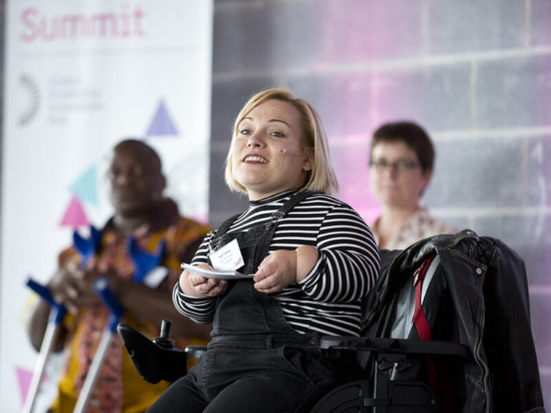 At user speaks at the Disability Innovation Summit