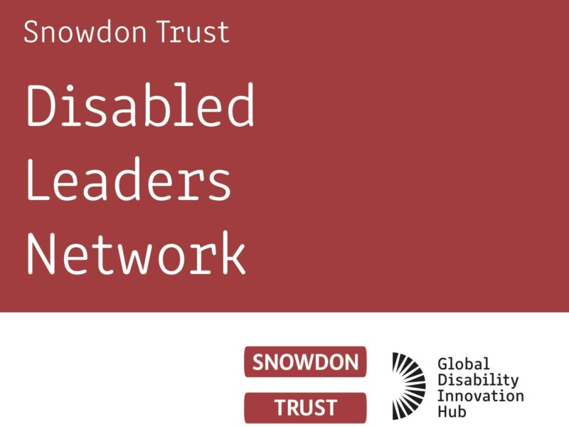 Disabled Leaders Network title and logos