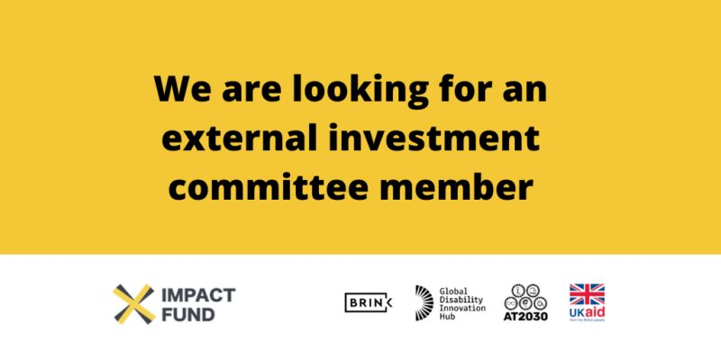 We are looking for an external investment committee member