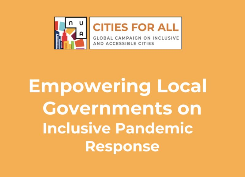 Empowering Local Governments on Inclusive Pandemic Response. Cites for all logo