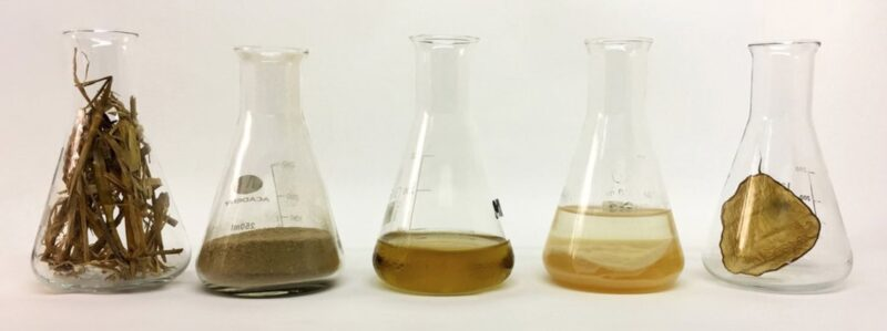 Lab glasses with different materials
