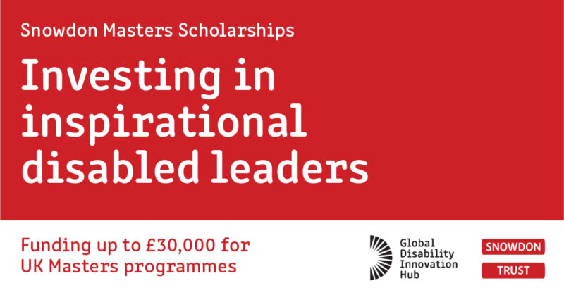 Investing in inspirational disabled leaders; a journey into Snowdon scholarships