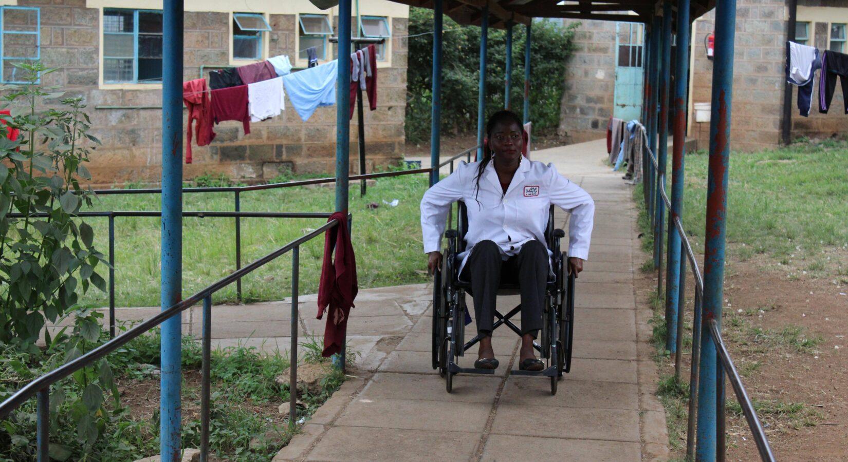 Wheelchair in Kenya